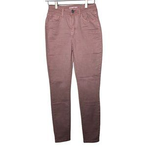 So Jeggings Size 1 / 25 High Rise Pastel Pink Ankle Straight Leg Jeans Women's